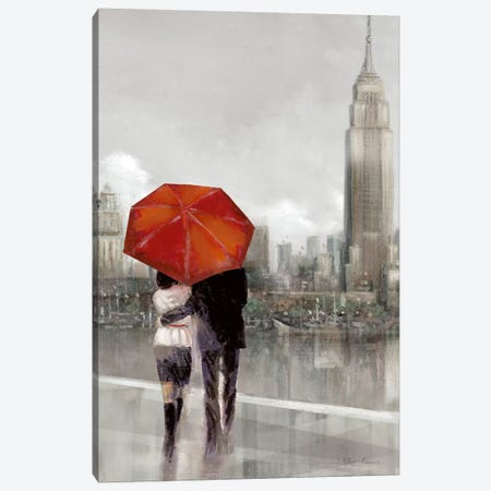 Modern Couple In NY Canvas Print #RUA56} by Ruane Manning Art Print