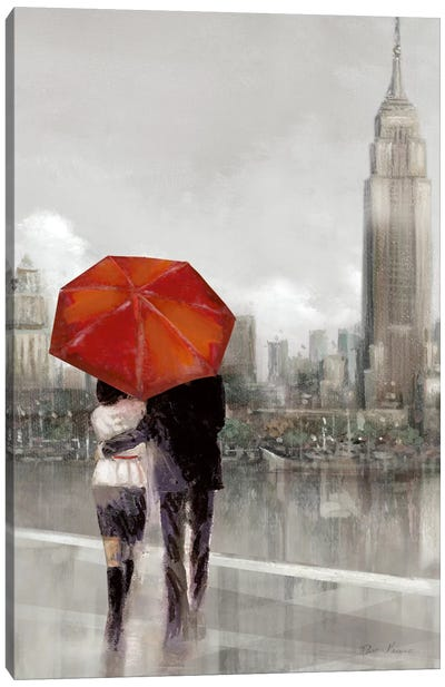 Modern Couple In NY Canvas Art Print