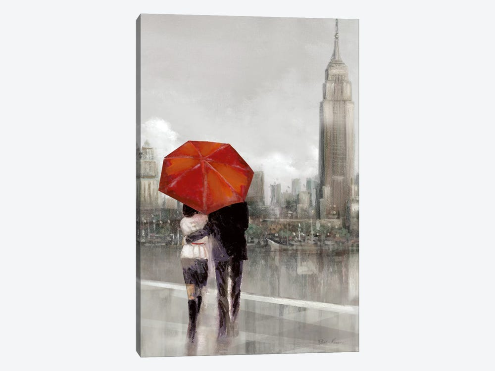 Modern Couple In NY 1-piece Canvas Print