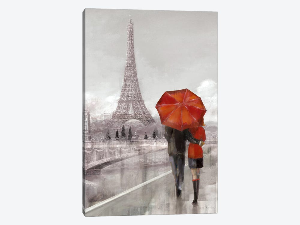 Modern Couple In Paris by Ruane Manning 1-piece Canvas Artwork