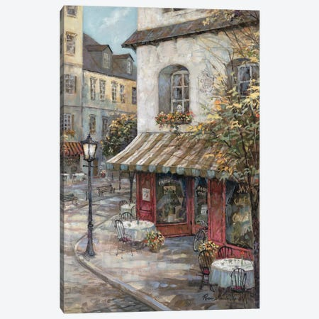 My Favorite Café Canvas Print #RUA58} by Ruane Manning Canvas Wall Art