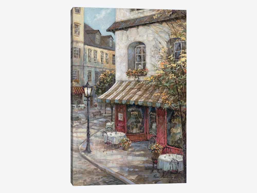 My Favorite Café by Ruane Manning 1-piece Canvas Print