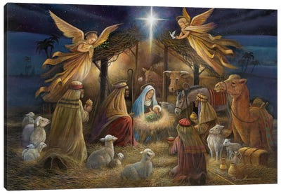 Nativity Canvas Art Print