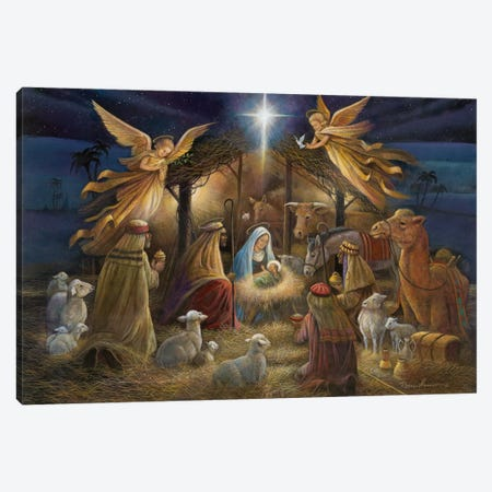 Nativity Canvas Print #RUA59} by Ruane Manning Canvas Artwork