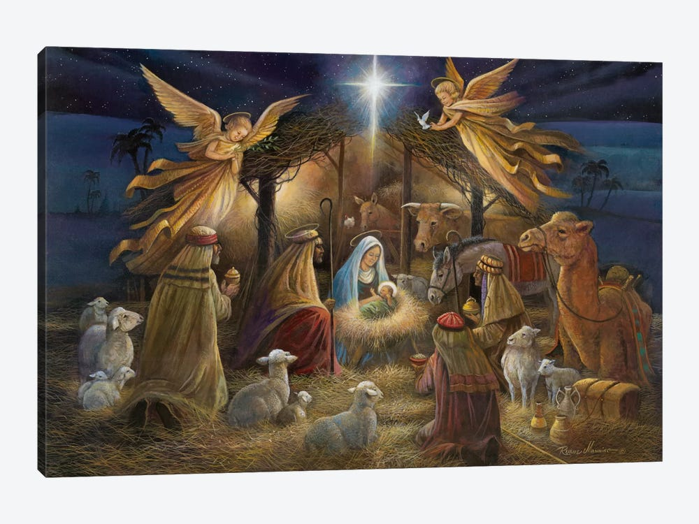 Nativity by Ruane Manning 1-piece Canvas Wall Art