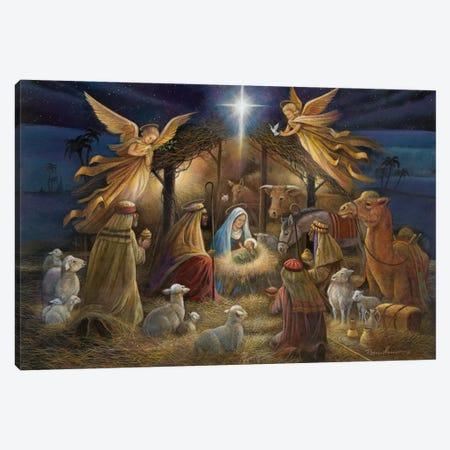 Nativity Canvas Print #RUA59} by Ruane Manning Canvas Artwork