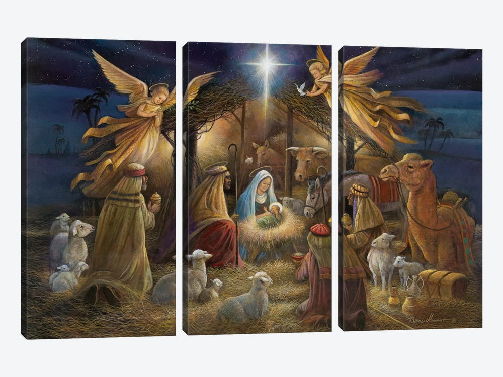 Nativity by Ruane Manning 3-piece Canvas Artwork