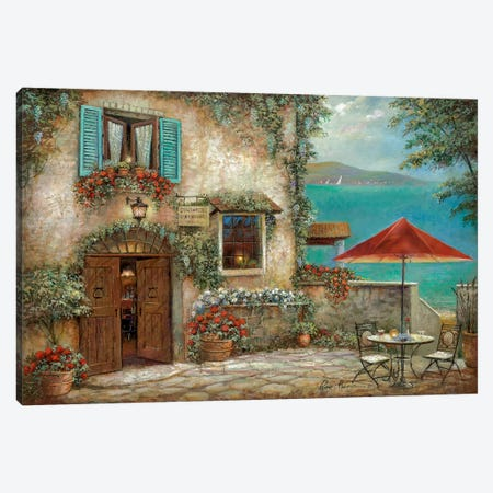 Ombrello Rosso Canvas Print #RUA63} by Ruane Manning Canvas Art Print