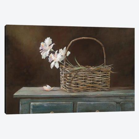 Orchid Basket Canvas Print #RUA64} by Ruane Manning Canvas Art