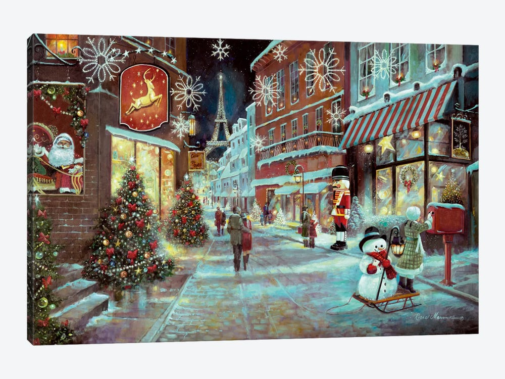 Paris Christmas by Ruane Manning 1-piece Canvas Print
