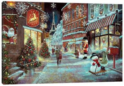 Paris Christmas Canvas Art Print