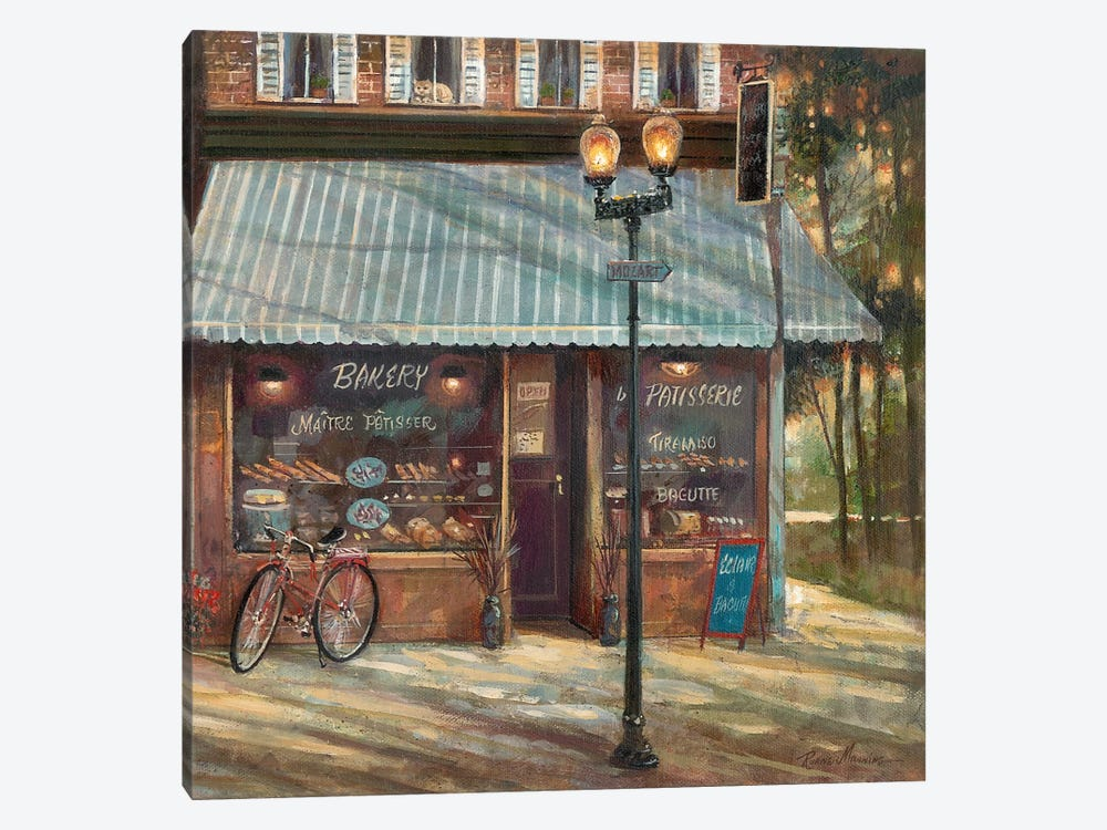Pastry Shop by Ruane Manning 1-piece Canvas Art