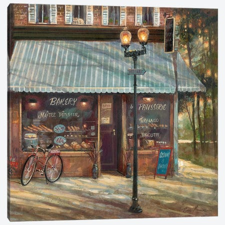 Pastry Shop Canvas Print #RUA66} by Ruane Manning Canvas Art