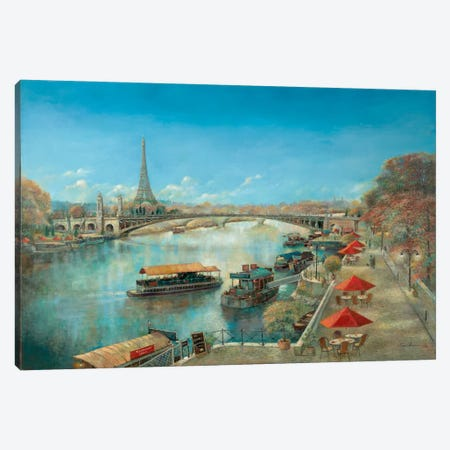 River Tranquility Canvas Print #RUA70} by Ruane Manning Canvas Artwork
