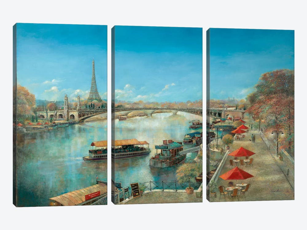 River Tranquility 3-piece Canvas Art Print