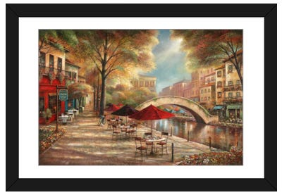 Riverwalk Charm Framed Art Print