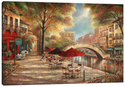 Riverwalk Charm Canvas Art Print