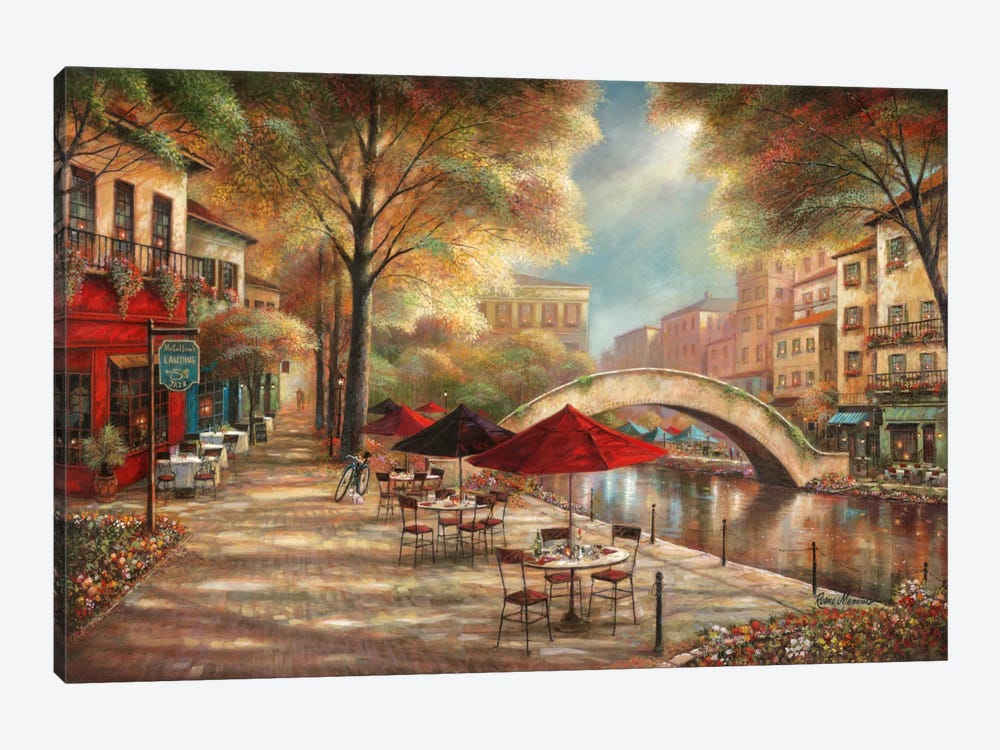 Riverwalk Charm by Ruane Manning 1-piece Canvas Artwork