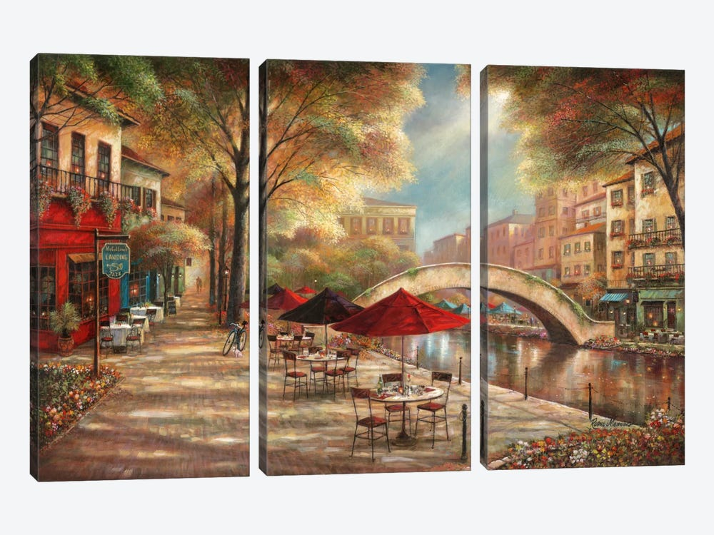 Riverwalk Charm by Ruane Manning 3-piece Canvas Wall Art