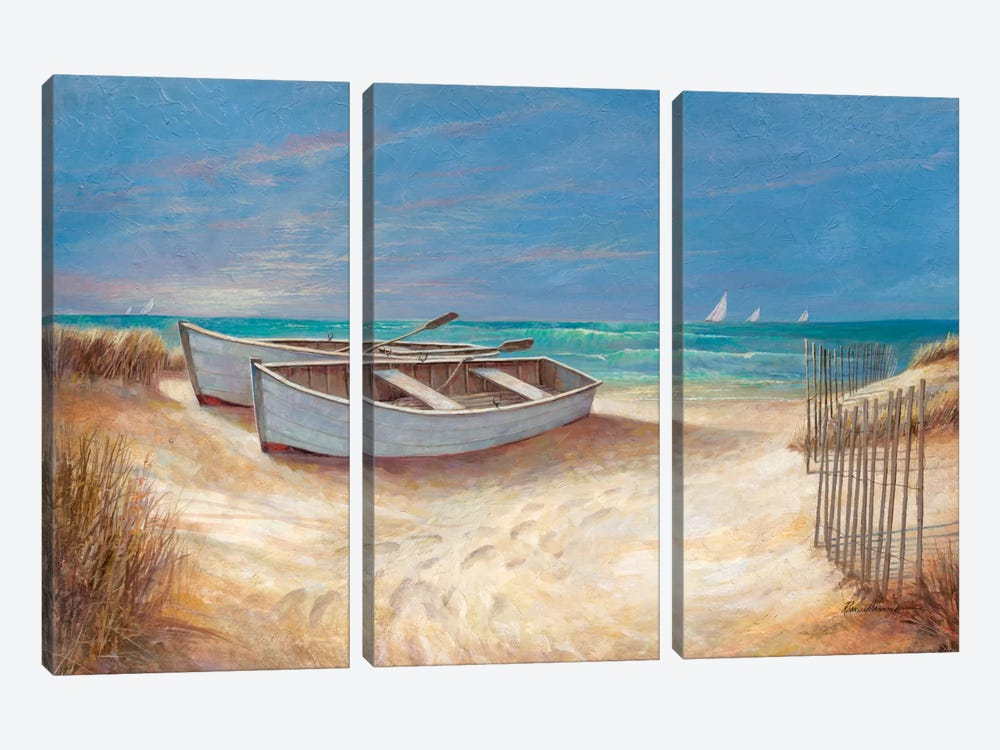 Sands Of Time by Ruane Manning 3-piece Canvas Wall Art