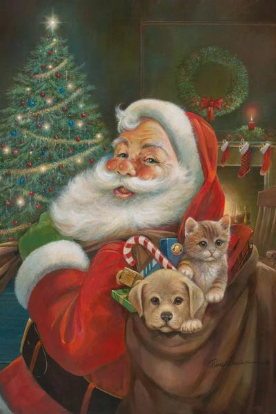 Santa Claus Art Print By Ruane Manning Icanvas