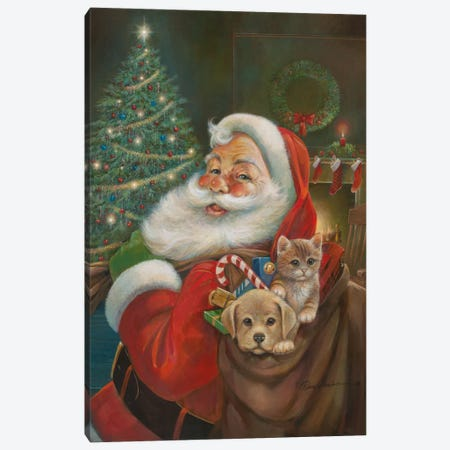 Santa Claus Canvas Print #RUA76} by Ruane Manning Canvas Art Print