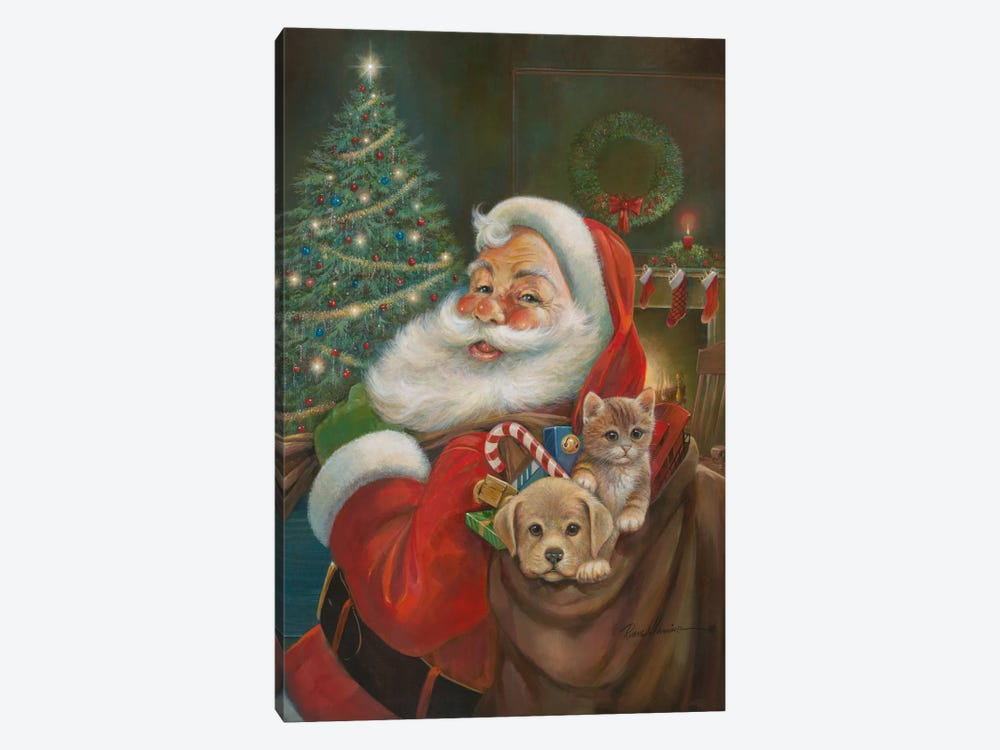 Santa Claus by Ruane Manning 1-piece Art Print