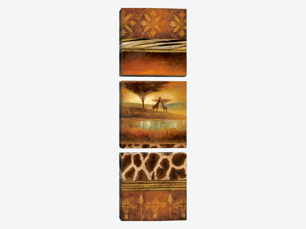 Serengeti Silhouette I by Ruane Manning 3-piece Canvas Artwork