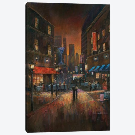 The Blues Club Canvas Print #RUA85} by Ruane Manning Canvas Artwork