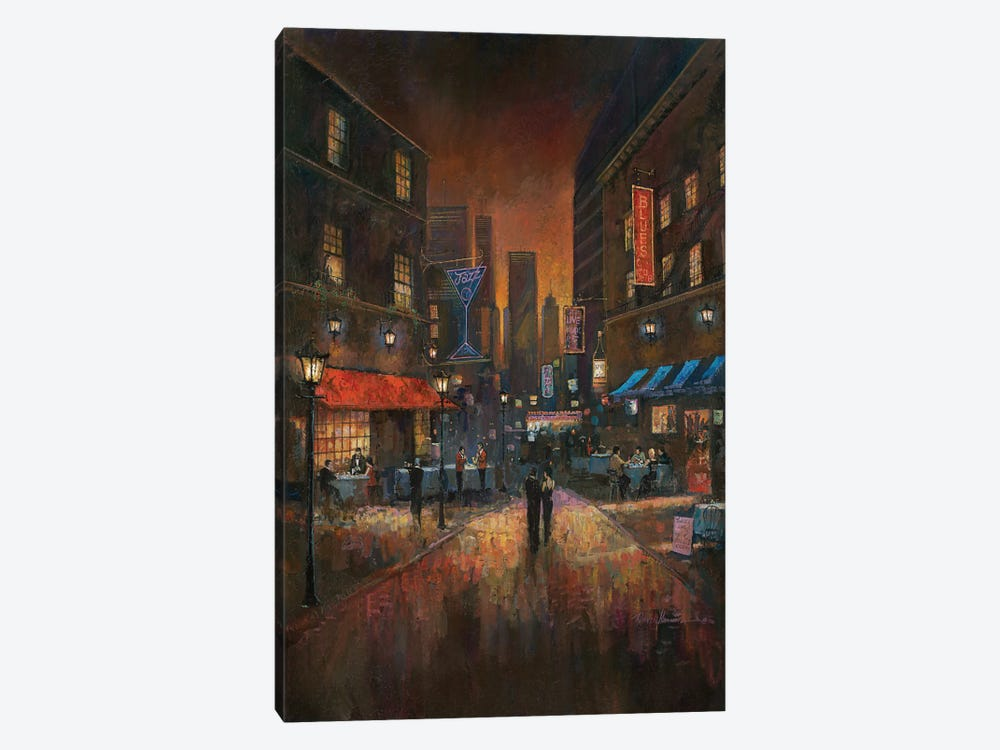 The Blues Club by Ruane Manning 1-piece Canvas Art Print