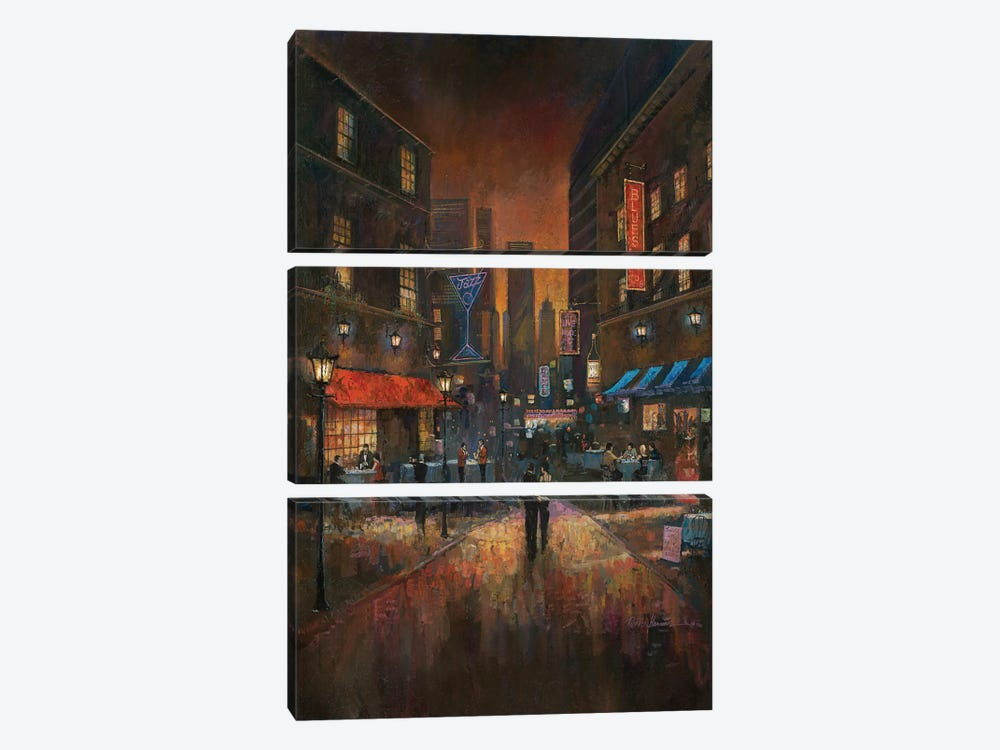 The Blues Club by Ruane Manning 3-piece Art Print