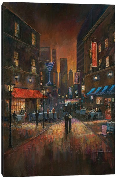 The Blues Club Canvas Art Print