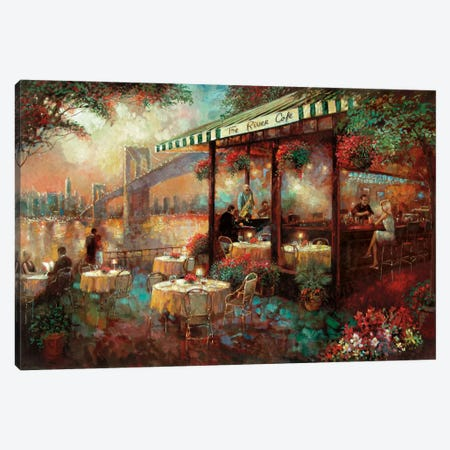 The River Café Canvas Print #RUA87} by Ruane Manning Canvas Artwork