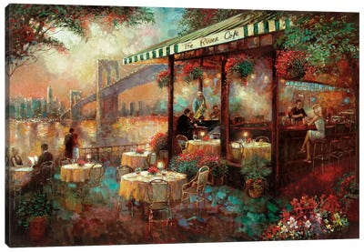 The River Café Canvas Art Print