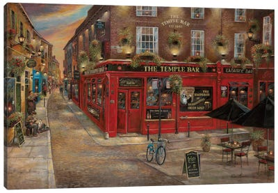 The Temple Bar Canvas Print #RUA88
