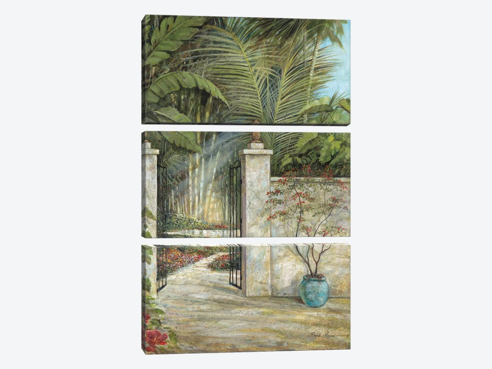 Tranquil Garden I by Ruane Manning 3-piece Canvas Art Print