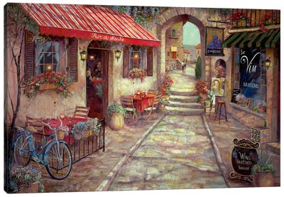 Bar Du Marche Canvas Art Print