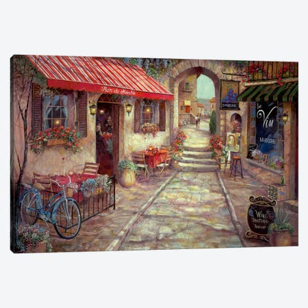 Bar Du Marche 3-Piece Canvas #RUA8} by Ruane Manning Canvas Print