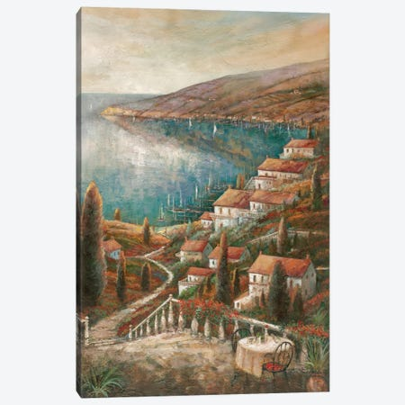 Tranquil Harbor I 3-Piece Canvas #RUA90} by Ruane Manning Canvas Wall Art