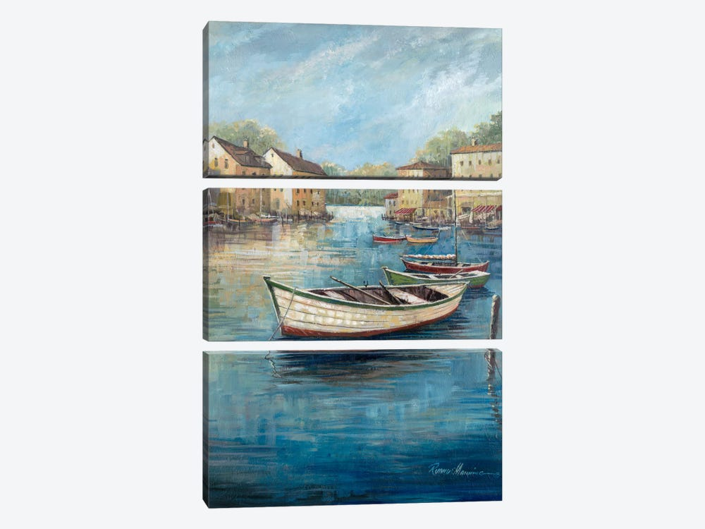 Tranquil Harbor II by Ruane Manning 3-piece Canvas Artwork