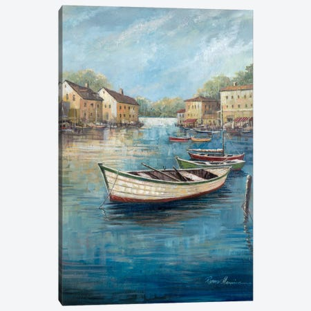 Tranquil Harbor II Canvas Print #RUA91} by Ruane Manning Canvas Wall Art