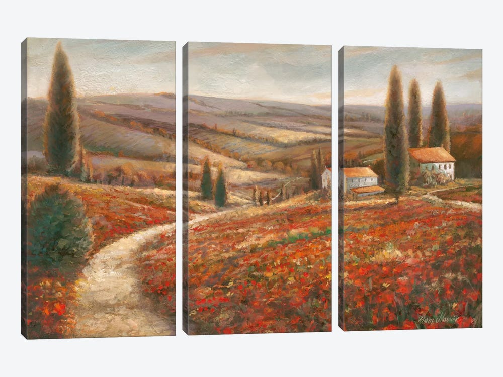 Tuscan Palette 3-piece Canvas Print
