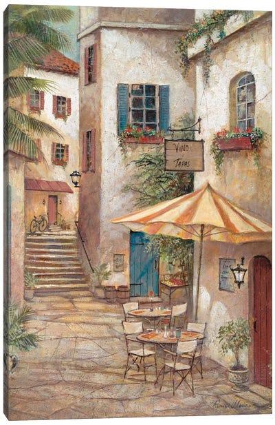 Vino y Tapas Canvas Art Print