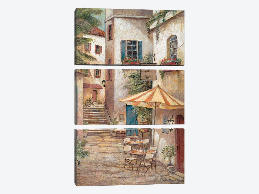Vino y Tapas by Ruane Manning 3-piece Canvas Art Print