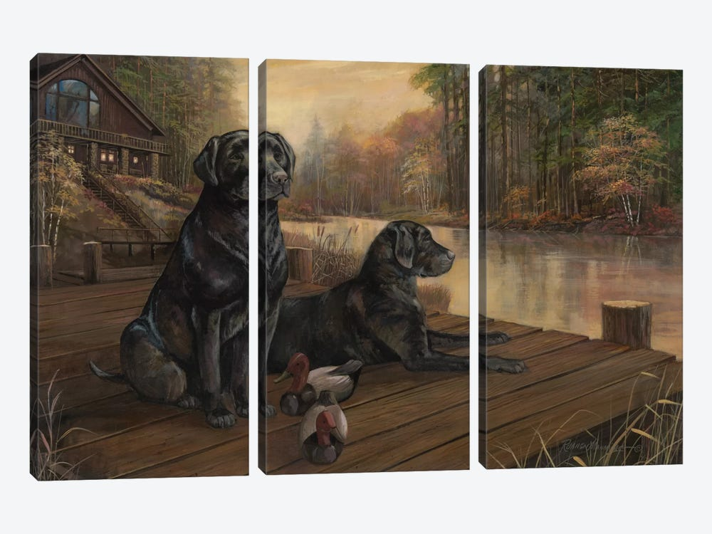 Waiting For Tomorrow by Ruane Manning 3-piece Canvas Art Print