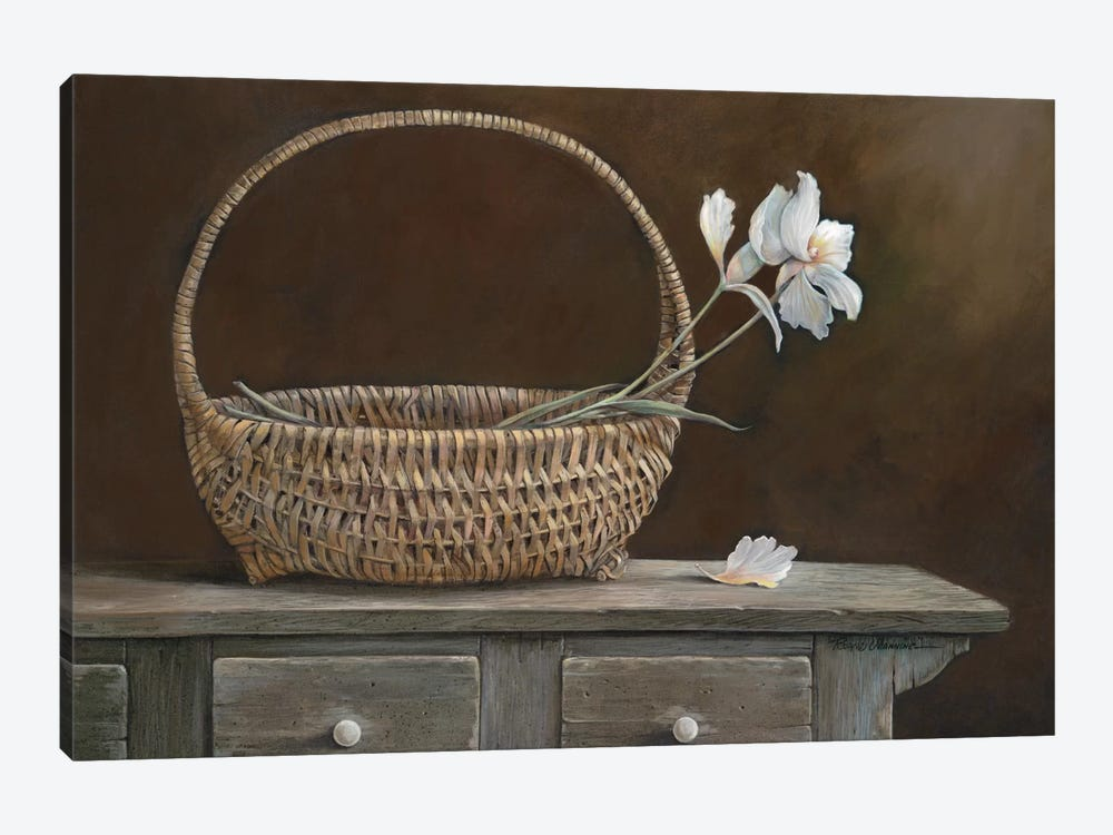 Wicker & Orchids by Ruane Manning 1-piece Canvas Artwork