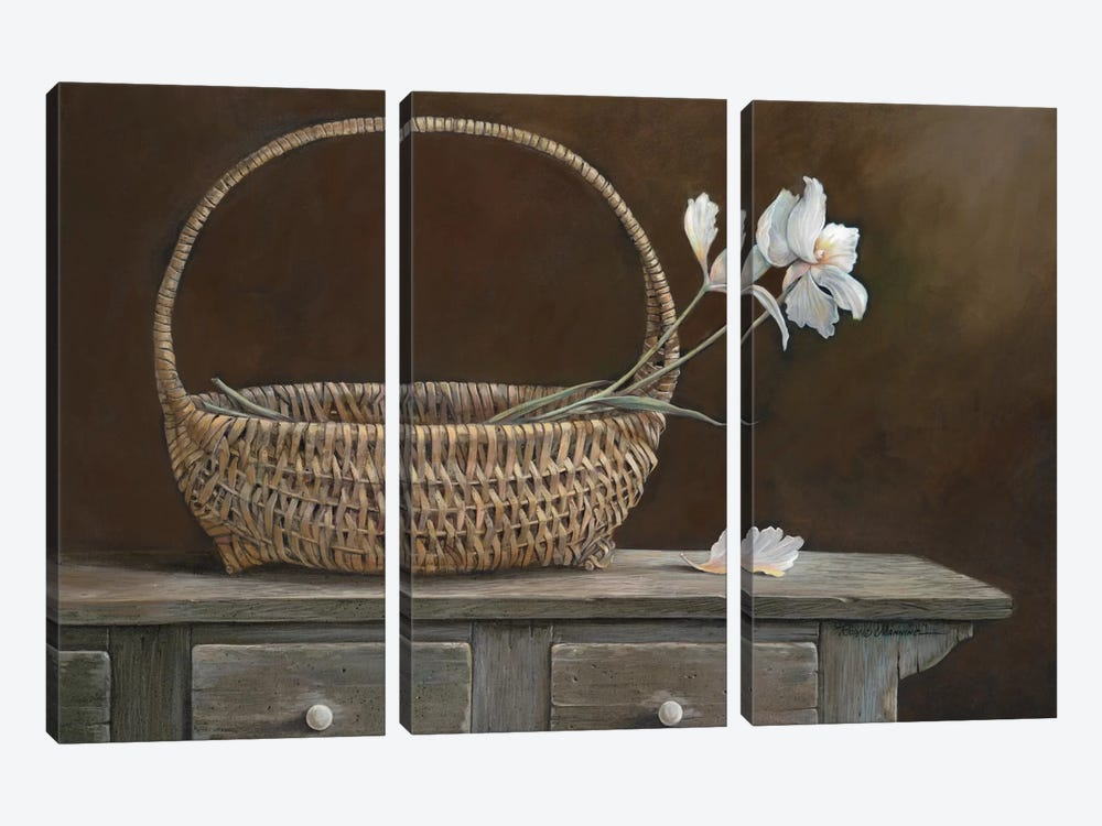 Wicker & Orchids by Ruane Manning 3-piece Canvas Wall Art