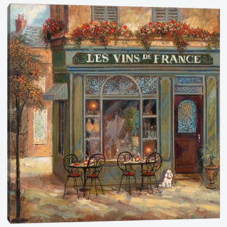 Wine Shop Canvas Print #RUA98} by Ruane Manning Canvas Art