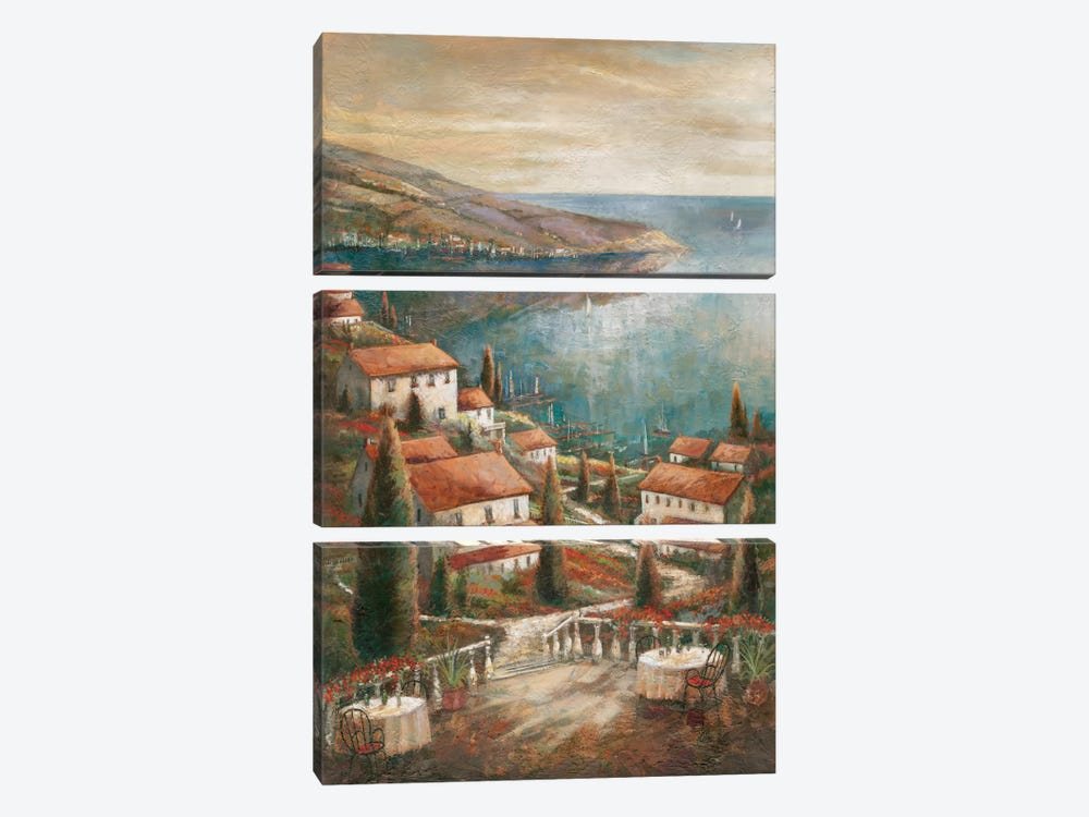 Beauty By The Sea by Ruane Manning 3-piece Canvas Artwork