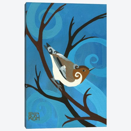 Singing On A Cold Winters Day Canvas Print #RUH104} by Barbara Rush Canvas Art